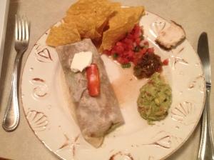 Burritos and salsas