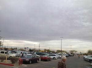 Ominous sky over Yuma.  Waiting for the aliens to come.