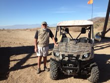 Craig, in the desert, with the ATV group