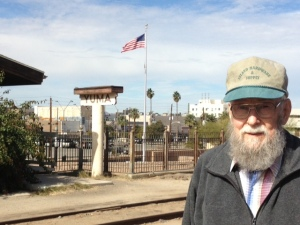 Dad at the Yuma train station