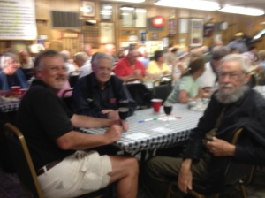 Spaghetti dinner at the American Legion (I know it's blurry......sorry)