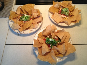Super Bowl nacho plates