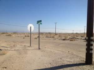 A not-so-busy street in Salton City