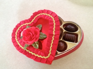 A Valentine's Day box of chocolates from my Sweetie