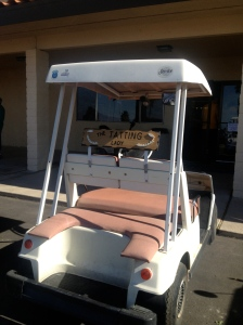 "The Tatting Lady's ""Ride"" or.......the golf cart of the day"