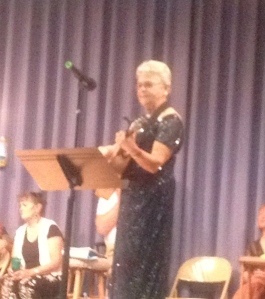 One of my favorite performers here at FOY -- sweet little lady with a pretty voice