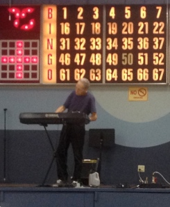 "All events at FOY are preceded by entertainment.  This man did a great job on the keyboard.  I will assure you, that any similarities to a certain episode of ""Family Guy"" are just life imitating art."