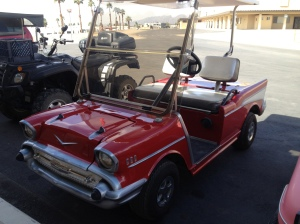 Golf cart of the day.  (hope I haven't photographed this one before, but, no matter, it's still a cool-looking golf cart)