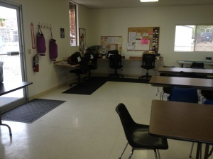 The sewing and craft room