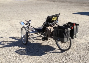 For you, Son -- a solar-powered bicycle.  (yes, it's a recumbent......sorry)