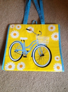 My new shopping bag.  Thinking of you, Justin!