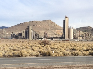 A factory, of some sort, in the desert.