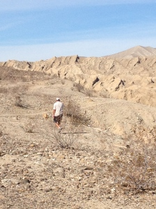 Craig, hiking in Anza-Borrego State Park