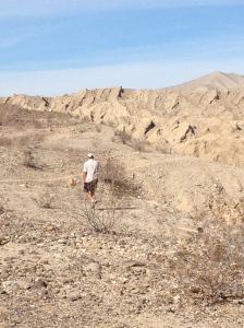 Craig, hiking in Anza-Borrego State Park