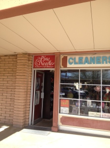Yes, there was a fabric/yarn/bead shop that also was a cleaners.  Best shop I've been in anywhere around here.  And I am absolutely serious.
