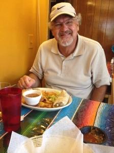 Craig enjoying his Mexican lunch.