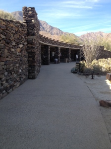The Visitor's Center at Anza-Borrego State Park.  The building has won awards for its design.  The roof is a garden that you walk through to get to the entrance below.