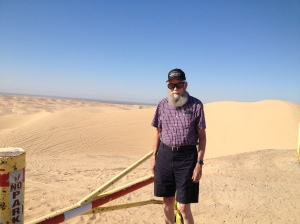 Dad, at the Glamis sand dunes.