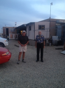 Craig and Dad outside the American Legion.