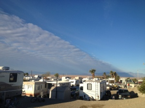 Crazy looking cloud formation on (Superbowl) Sunday morning.