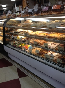 Cottage Bakery in Long Beach.  One of FOUR cases of baked goods.  We do love our pastries.