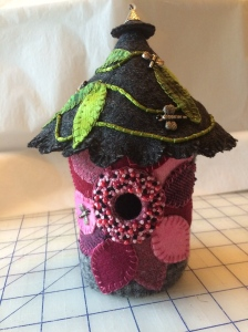 A birdhouse I made for my dear Mother-In-Law.  Not my current project, but it might be similar.......