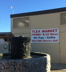 We're looking forward to the hot dogs and the flea market.