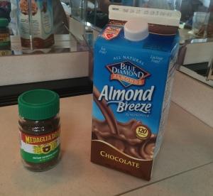 "Powdered espresso powder + Chocolate Almond ""milk"""