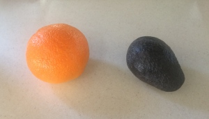 Avocados and oranges.  I know I ate avocado EVERY DAY, and oranges were about the same.