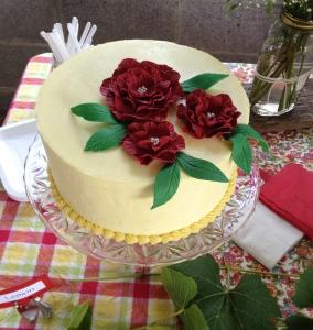 Lemon cake with lemon frosting.