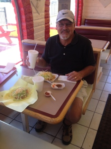 Birthday lunch at Aiberto's Taco Shop.  (We like Mexican food......Dad stayed home.  He doesn't like Mexican food.)
